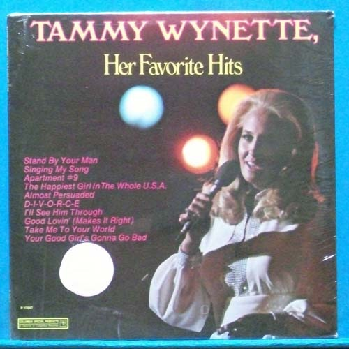 Tammy Wynette favorite hits(stand by your man) 미개봉