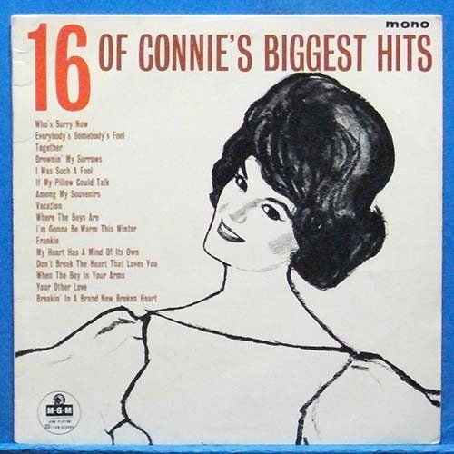 16 of Connie Francis's biggest hits (영국 모노 초반)