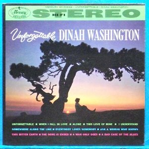 Dinah Washington (unforgettable) 미국 스테레오 초반