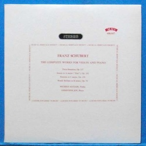 Michele Auclair, Schubert complete violin sonatas 2LP's