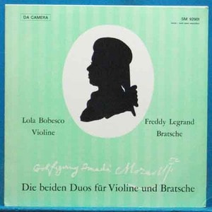 Bobesco/Legrand, Mozart duos for violin and viola