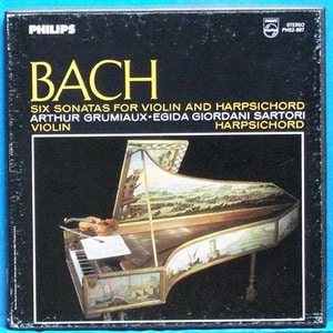 Grumiaux/Sartori, Bach 6 sonatas for violin and harpsicord 2LP's